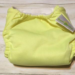 Bum Genius yellow diaper